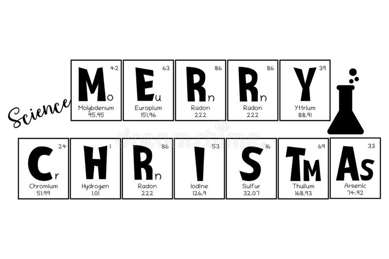 Periodic Table Christmas And New Year Celebration Poster Greeting Card Mendeleev Table Elements Design For A Holiday Stock Vector Illustration Of Concept Graphic 200390636