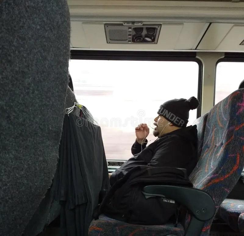 Cell Bus Talking People Phones