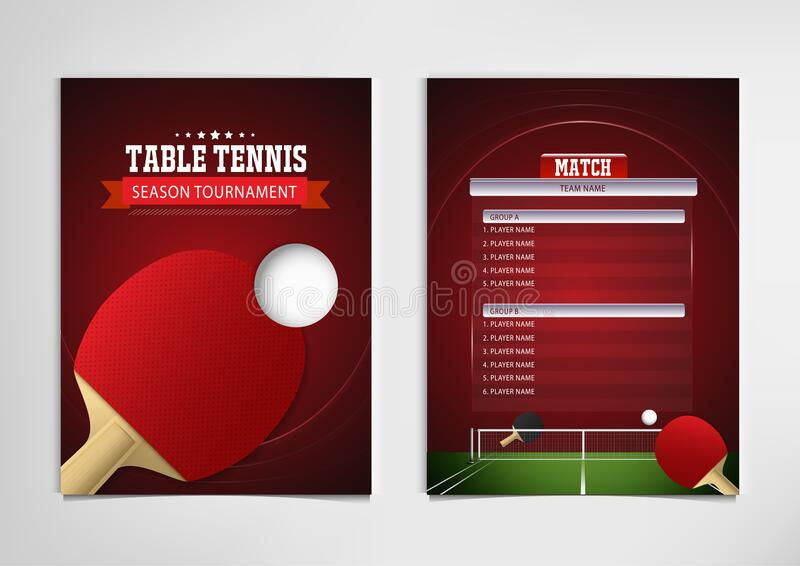 ping pong or table tennis tournament poster or banner vector template design eps10 stock vector illustration of flat isometric 200952139