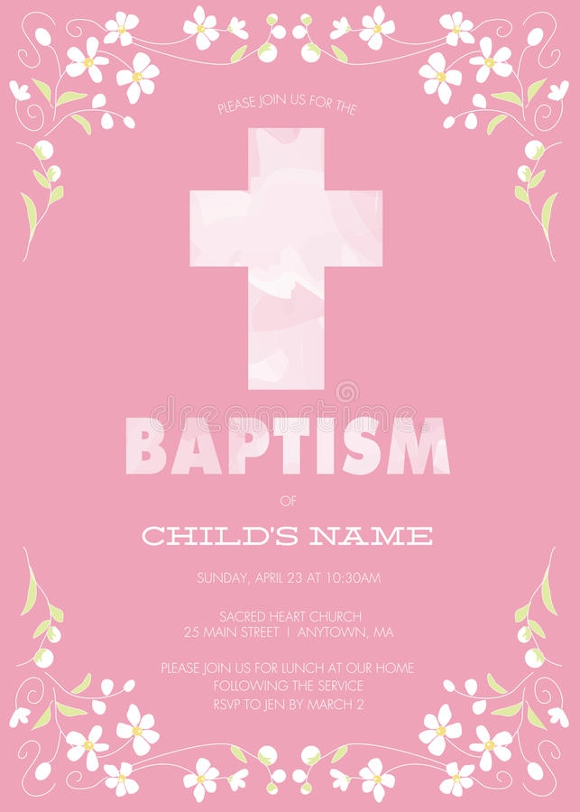Customized Christening Invitation