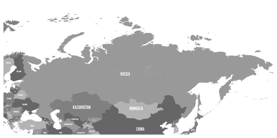 Political Map Of Russia And Surrounding European And Asian Countries     Download Political Map Of Russia And Surrounding European And Asian  Countries  Stock Vector   Illustration