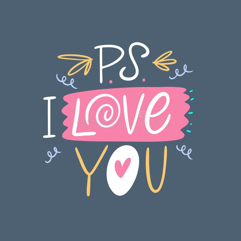 Download Vector Colorful Hand Drawing I Love You Stock Illustration ...