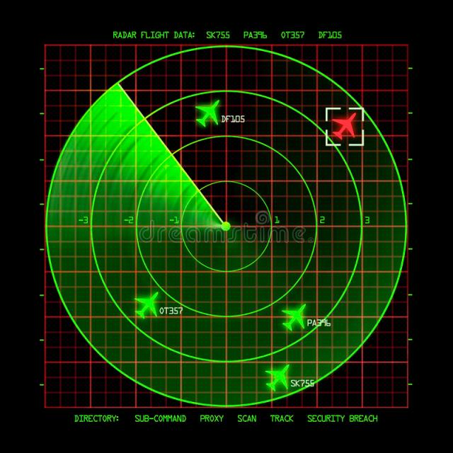 Download Radar stock illustration. Illustration of computer, equipment - 39923582