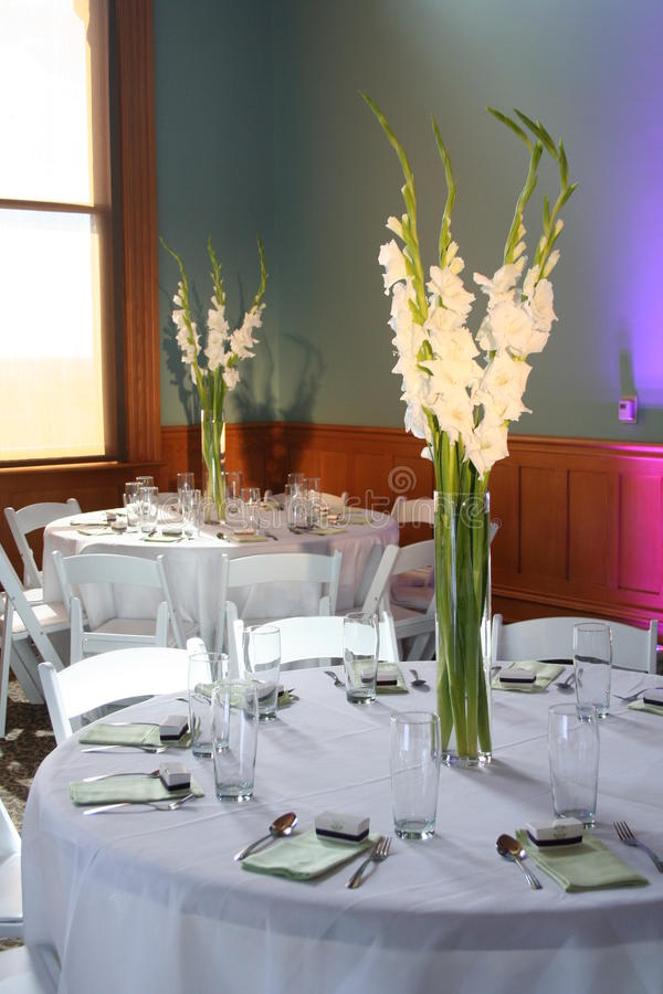 Reception Table Decorations Stock Image Image Of Flowers