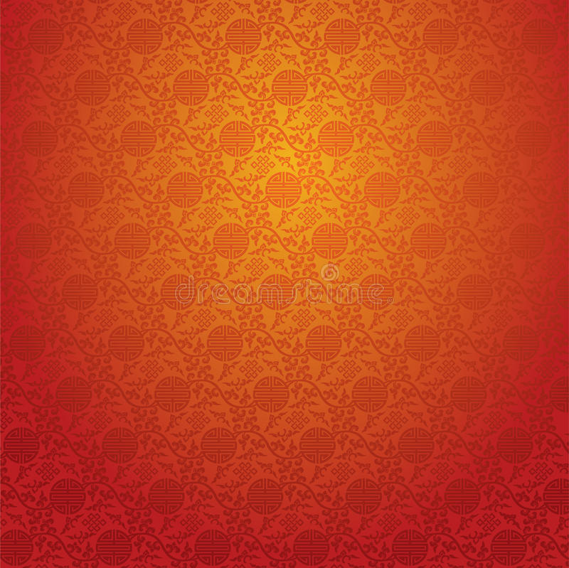 Red Chinese Wallpaper Stock Vector Ilration Of Exotic 42116470