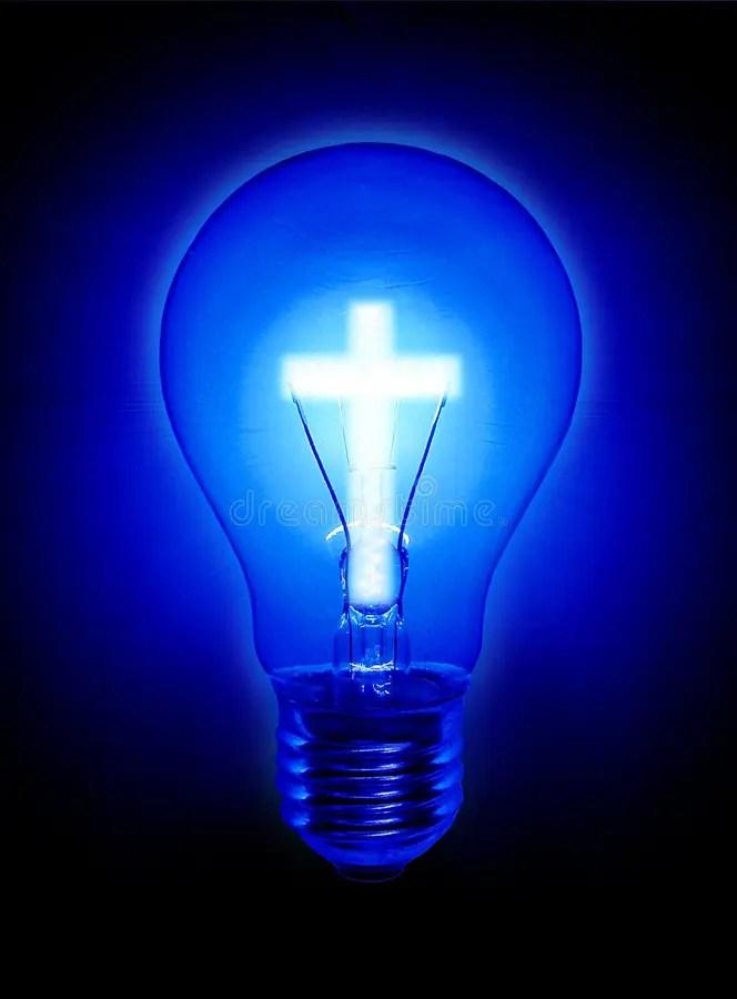 Blue Light Bulb Picture