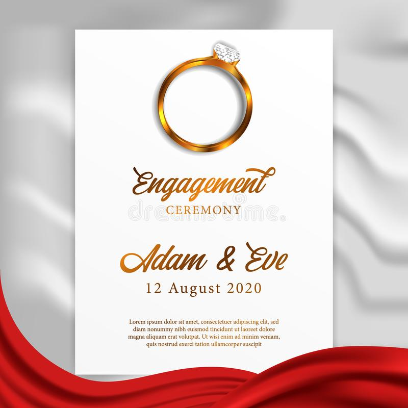 رياضي خطي عدم الثقة engagement rings invitation cards
