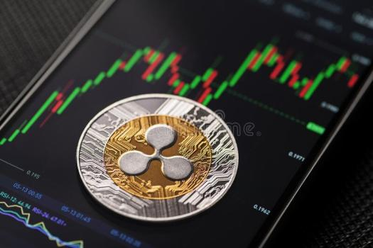 Ripple Xrp Cryptocurrency Trading Stock Photo - Image of ...