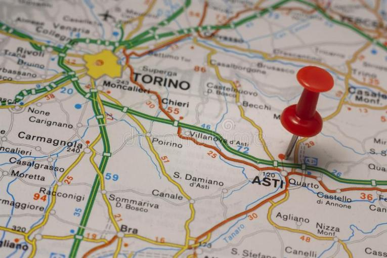 Asti Pinned On A Map Of Italy Stock Image   Image of geography     Download Asti Pinned On A Map Of Italy Stock Image   Image of geography   planet