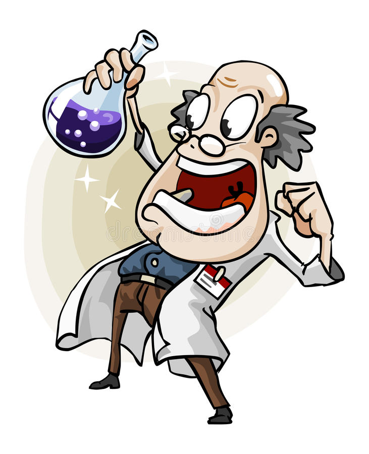 Scientist With Invention Stock Vector Illustration Of