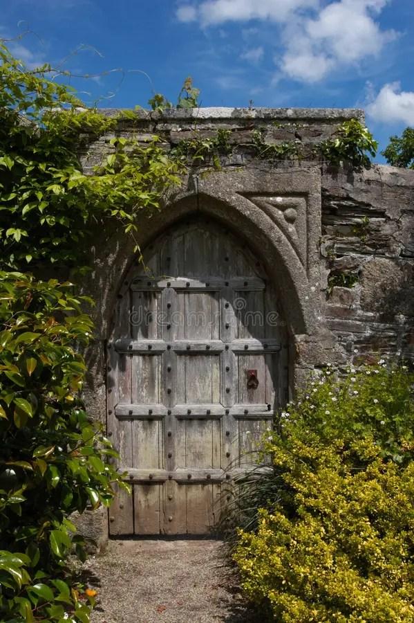 Secret Door To The Magic Garden Stock Image Image Of