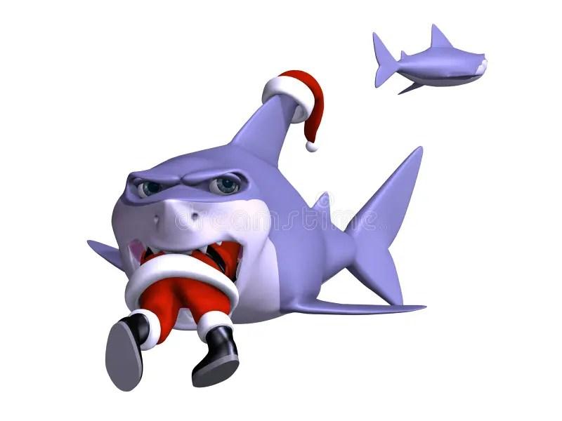 Shark Swallowing Santa Stock Illustration Image Of Kris