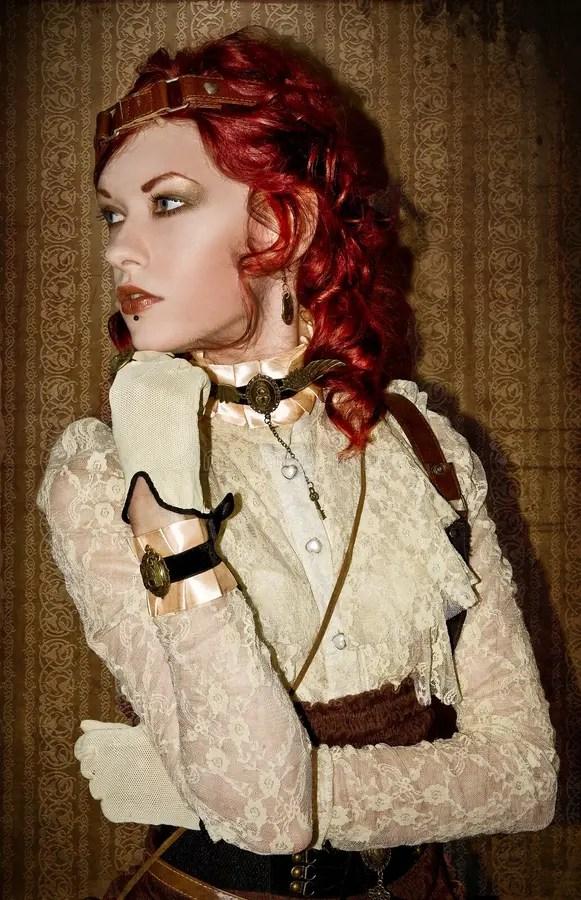 Steampunk Victorian Girl Stock Image Image Of Retro