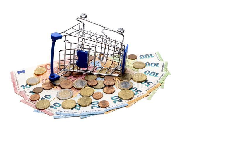 Basket With Euros Money Stock Image Image Of Europe