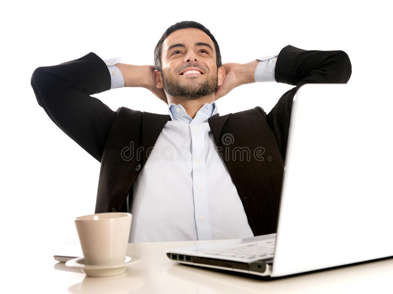 Successful Businessman Relaxed And Satisfied Stock Image