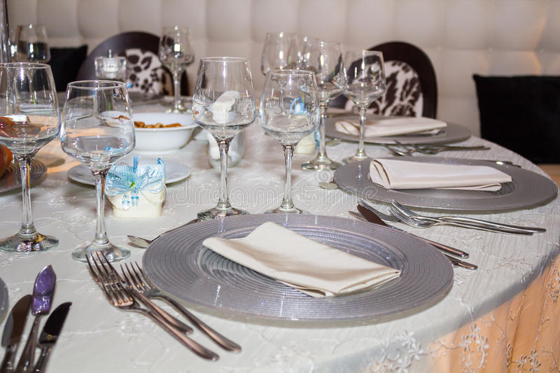 Table Set Up Stock Photography