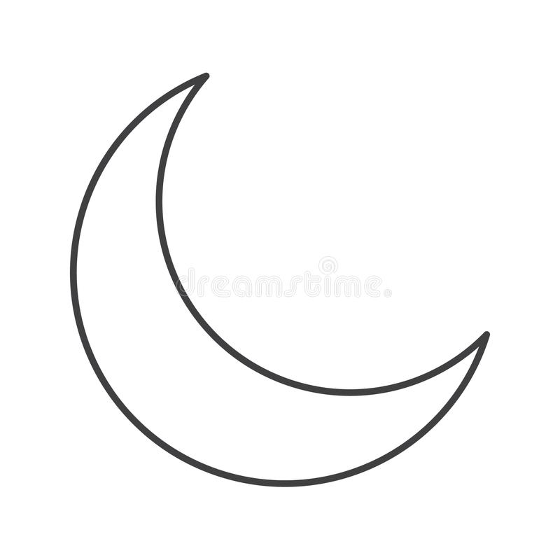 Thin Line Crescent Moon Icon Stock Vector Illustration Of Icon Crescent 105561789