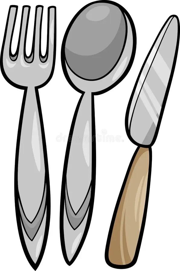 Utensils Cartoon Illustration Stock Vector Image 40694274