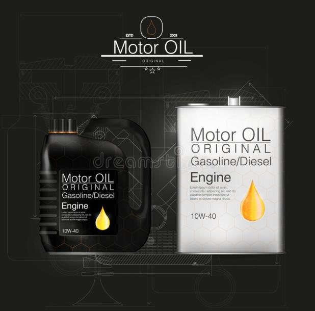 Vector Canister Oil Bottle Engine Background Stock Ilration Of Flammable