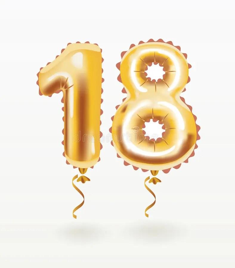 18th birthday celebration with gold