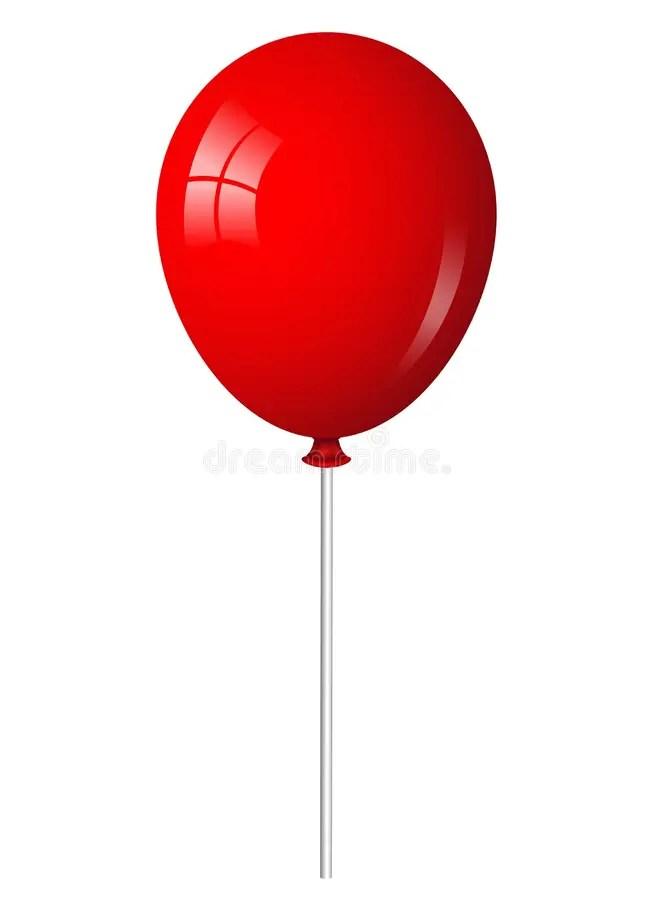 Red Balloon On Stick Stock Photo Image 30057480