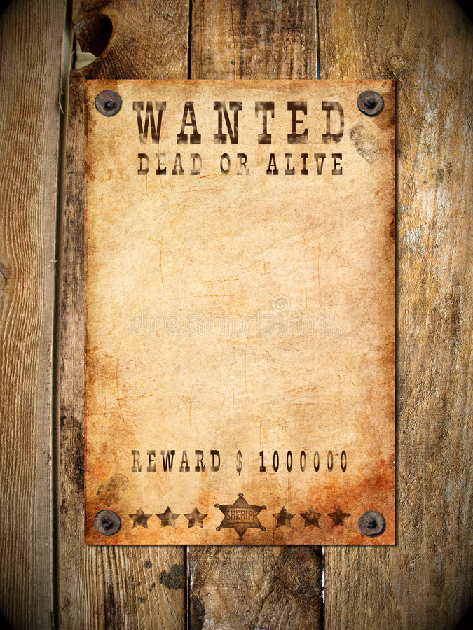 Vintage Wanted Poster Stock Photo Image Of Paper Background 8695434