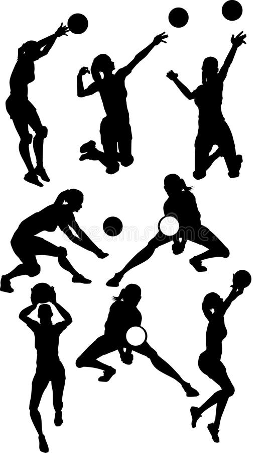 Girl Hitter Volleyball Silhouettes