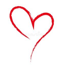 Von Hand Gezeichnet, Flüchtig, Rotes Herz Des Gekritzels Auf Weißem  Hintergrund Ein Symbol Gezeichnet Mit Einer Bürste Schablone, Vektor  Abbildung - Illustration von bürste, herz: 91111450