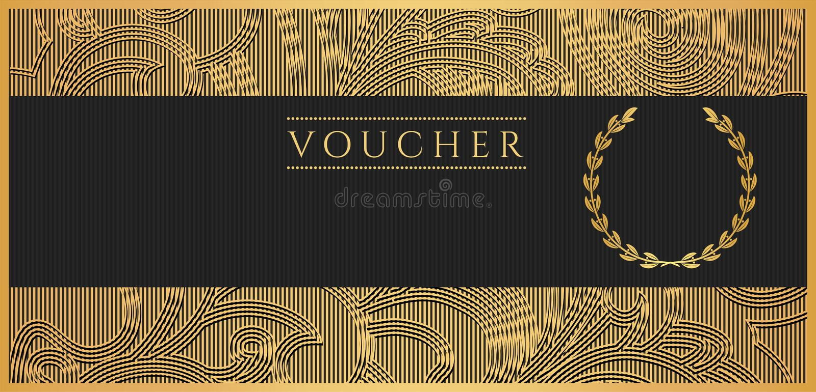 Voucher Gift Certificate Coupon Template Scroll Stock Photos Image 34469803