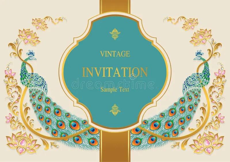 indian wedding invitation stock