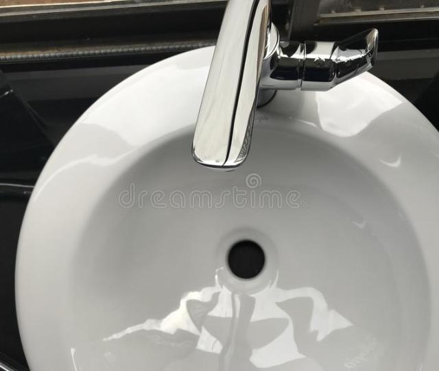 White Ceramic Sink With Stainless Steel Faucet Free Public Domain Cc Image