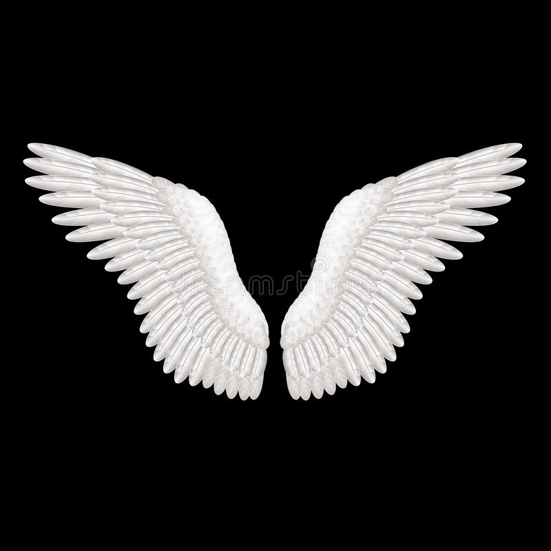 Angel Wings Clip Art Black And White