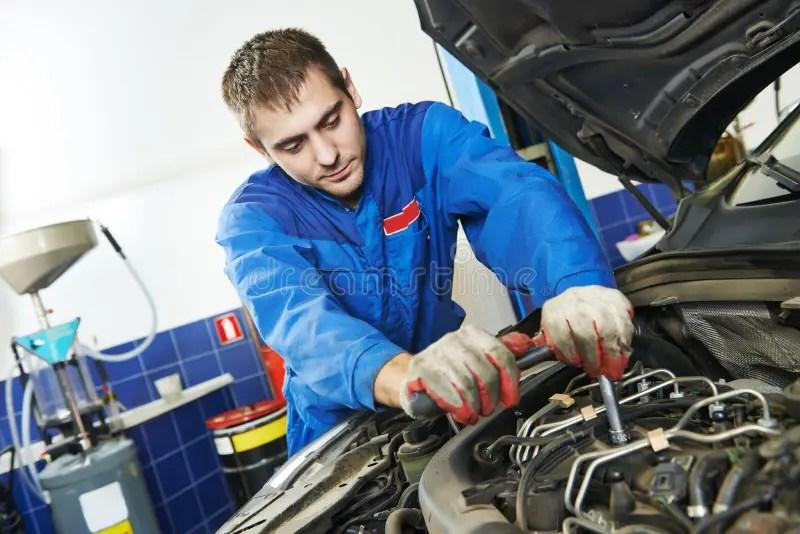 Working Repairman Auto Mechanic Stock Photo Image 45214987