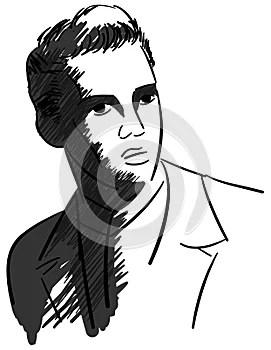 Artistic portrait of Elvis Presley