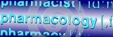 Focus on the word pharmacology