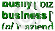 Focus on the word business isolated