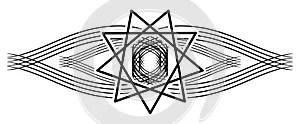 Holy Spirit tattoo on black decoration isolated
