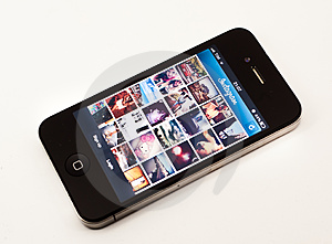 Instagram app on iPhone