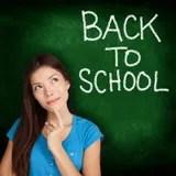 Back to School, university college student teacher Stock Photos