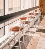 old bar stools royalty free stock photography - image