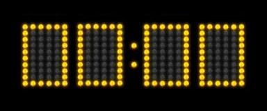 Countdown On A Scoreboard Clock Stock Photo - Image of zero, time: 16657418