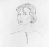 Drawing of beautiful girl Stock Photography
