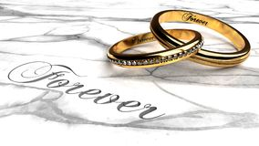 Happy Marriage Love Forever Together Eternally Symbolized By Two Expensive Joined Together