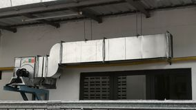 ventilation air duct exhaust hood for