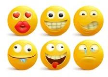 Espressione Di Sorpresa Del Fumetto Di Smiley Emoticon