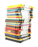 Large stack of computer floppy disks Stock Photos