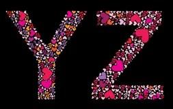 Download Letter R, S. Valentine Alphabet Stock Vector ...