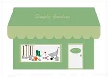 Outils De Jardinage Sur Laffichage Dans Le Magasin Image
