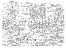 Paisajes Para Dibujar Otono On Log Wall