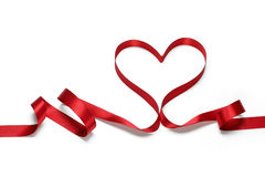 Ribbon Heart Means Love Affection And Attraction Stock